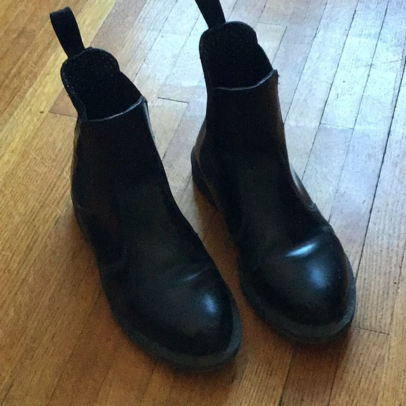 Doc Marten Black Flora Ankle boots sz 9